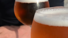 Close-up of beer in Glas Stock Footage
