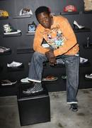 hakeem kae kazim visits the ed hardy outlet - stock photo