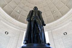 thomas jefferson statue - stock photo