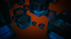 Blue glass boxes Stock Footage