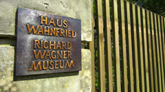 Stock Video Footage of Music Composer Richard Wagner Museum in Bayreuth Germany Bavaria Franconia