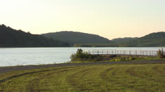 Lake with Dick at Sunset 1080/24p HD Stock Footage