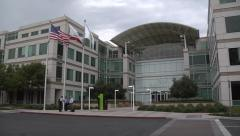 Apple Computer Headquarters Stock Footage