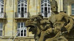 Germany Bavaria Bayreuth Hofgarten Palace garden park fountain Stock Footage