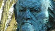 Stock Video Footage of Music Composer Richard Wagner sculpture in Bayreuth