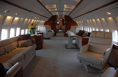 """Stock Photo of atmosphere.icon jet unveilling of 1st vip 737""""inside"""" .held at the van nuys a"""