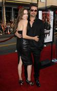 Angelina jolie and actor brad pitt.inglourious basterds los angeles premiere. Stock Photos