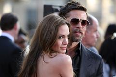 Angelina jolie and brad pitt.inglourious basterds los angeles premiere.held a Stock Photos