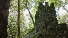 Medieval tower in the woods Stock Footage
