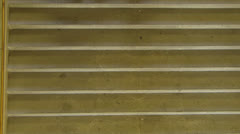 Student walking down steps staircase stairway Munich LMU university Germany Stock Footage