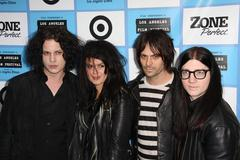 Jack white and band the dead weather.it might get loud laff premiere .held at Stock Photos