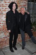 Jack white, jimmy page.it might get loud laff premiere .held at the mann vill Stock Photos