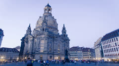 Dresden frauenkirche, germany Stock Footage