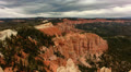Bryce Canyon Timelapse 11 Hoodoos and clouds at Rainbow Point Footage