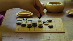 Chinese Japanese Korean strategy Go game board for beginner AlphaGo Stock Footage