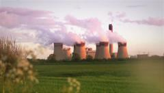 Power Station Sunset Stock Footage