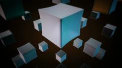 Retro white cubes Stock Footage