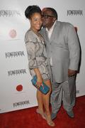 cedric the entertainer and wife.los angeles confidential magazine may/june is - stock photo