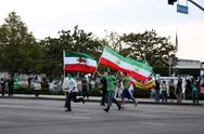 Stock Photo of .los angeles iranian protest rally .held at los angeles federal building.los