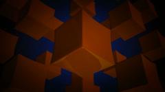 Orange box array Stock Footage