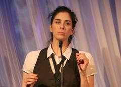 sarah silverman, stsnd up comedy performance.l.a. gay & lebian center present - stock photo