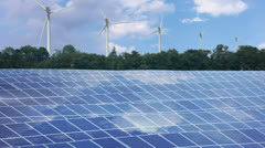 Renewable energy. timelapse Stock Footage