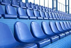 Seats at stadium Stock Photos