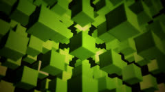 Green box array Stock Footage