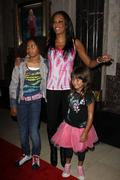 melanie brown a.k.a mel b and daughters phoenix chi, and angel iris.the los a - stock photo