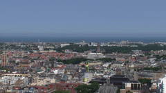 THE HAGUE City center skyline with North Sea and Scheveningen in background Stock Footage
