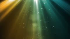 Heavenly Rays Amber Blue Stock Footage