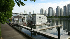 False Creek Floating Homes, Vancouver Stock Footage