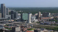 THE HAGUE high angle view of central district Bezuidenhout Stock Footage