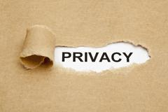 privacy concept - stock photo