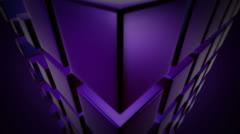 Purple dice dance Stock Footage