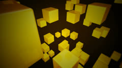 Yellow dice array Stock Footage