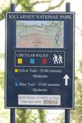 Signboard kilarney national park irland Stock Photos