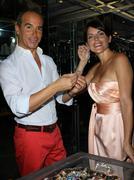 "Lloyd klein and actress lesli kay aka ""felicia"".actress lesli kay aka ""felici Stock Photos"