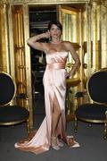 "Lesli kay aka ""felicia"" get ready for the daytime emmy awards Stock Photos"