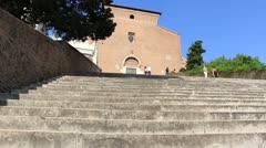 The Church of Santa Maria in Aracoeli, Rome (dolly 2) Stock Footage
