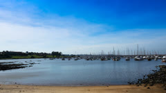Yachts resting in the City Harbor of Montevideo. Stock Footage