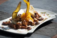 Seafood dish bocas del toro panama Stock Photos