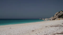 Beautiful shingle beach somewhere in Mediterranean sea Stock Footage