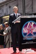 Jeffrey katzenberg.producer mark burnett honored with the 2,387th star on the Stock Photos