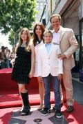Stock Photo of mark burnett with his wife, actress roma downey and their children .producer