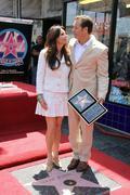 roma downey and producer mark burnett.producer mark burnett honored with the - stock photo