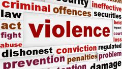 Violence criminal problems background Stock Footage