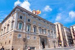 Barcelona, spain - 21 july: the palau de la generalitat is a medieval buiding Stock Photos