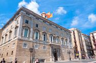 Stock Photo of barcelona, spain - 21 july: the palau de la generalitat is a medieval buiding