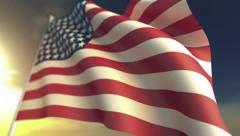 United States of America flag in slow motion Stock Footage